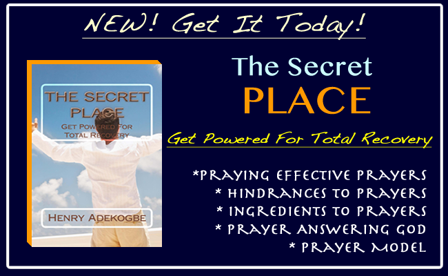 THE SECRET PLACE, Get Powered For Total Recovery