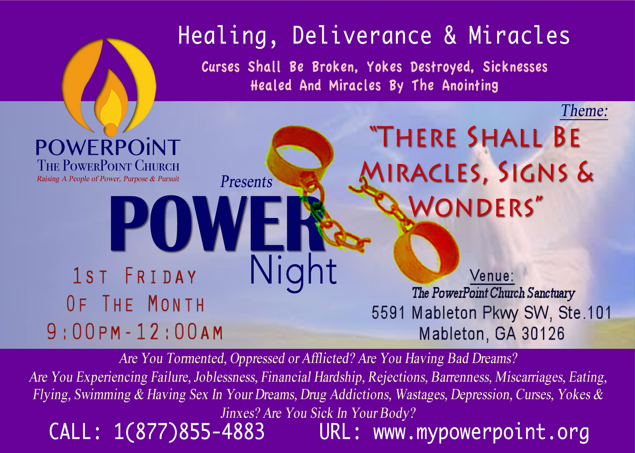 POWER Night of Healing, Deliverance & Miracles